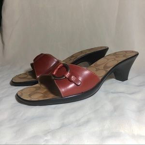 Coach Diana Calfskin Leather Sandals Size 9